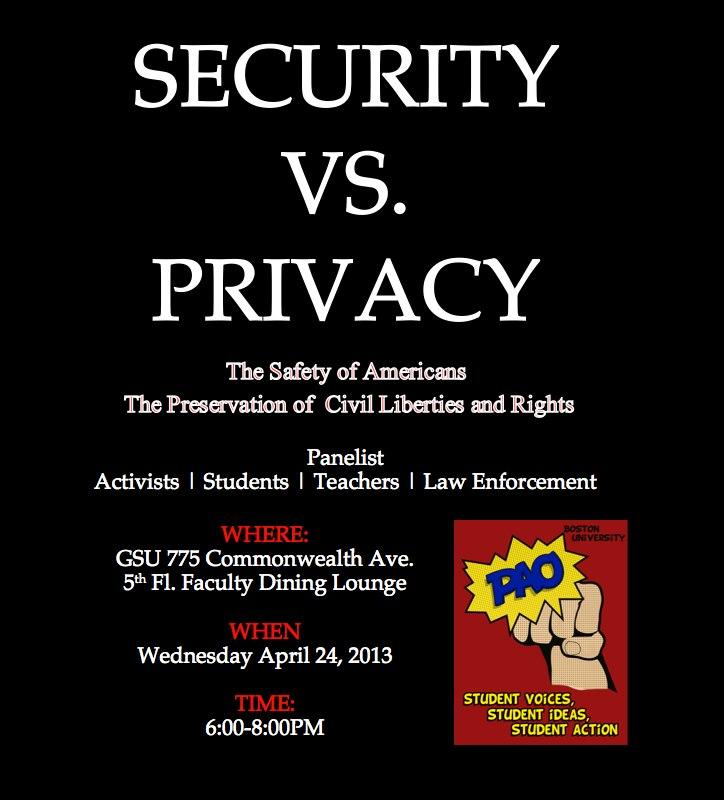 BU Privacy Security Event