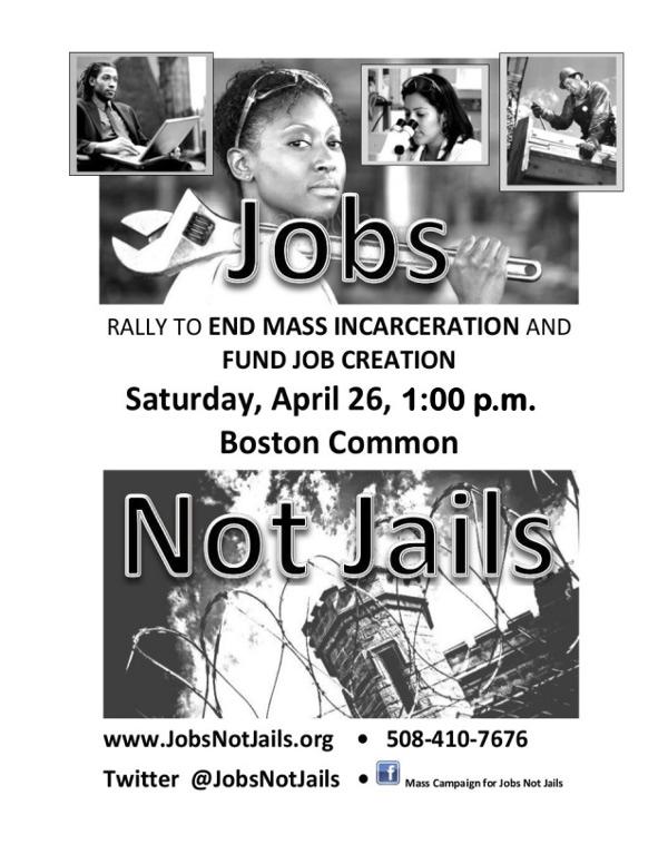 Jobs Not Jails.  Fund Job Creation!  End Mass Incarceration!