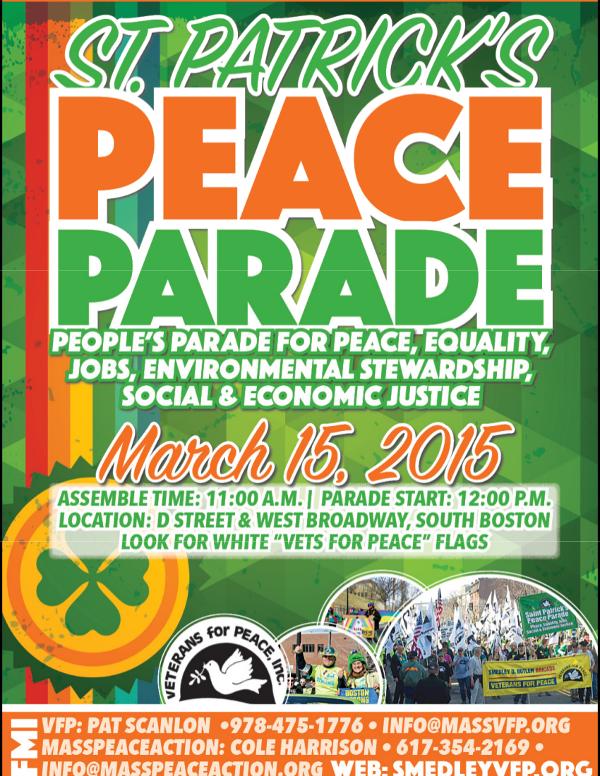2015 St. Patrick's Peace Parade Flyer