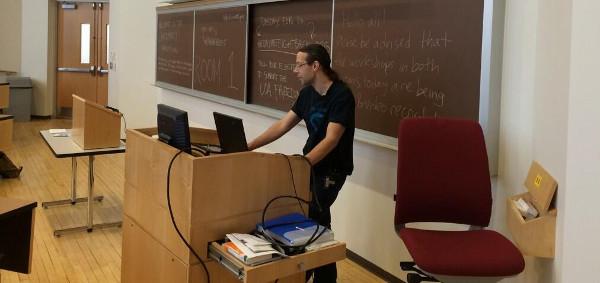 Steve Revilak presenting GnuPG at Northeastern University Cryptoparty