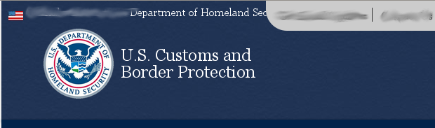 Logo from the Customs and Border Patrol (CBP) website