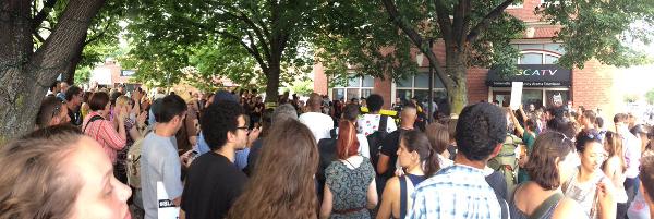 Black Lives Matter demonstration in Union Square, Somerville