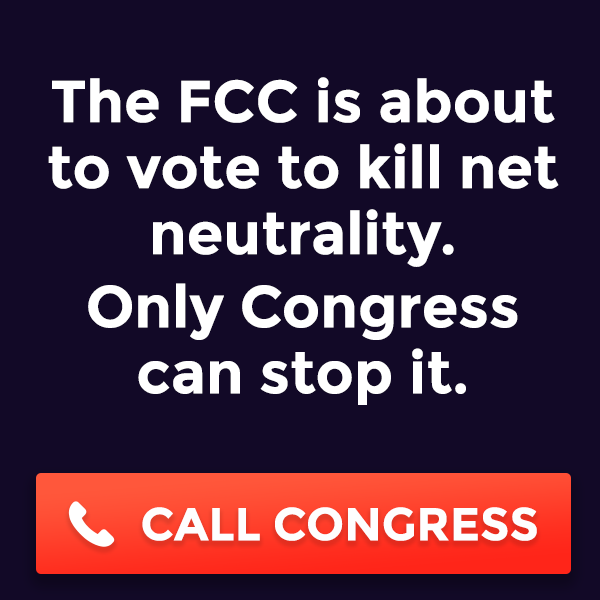Speak up for Net Neutrality by Thu.